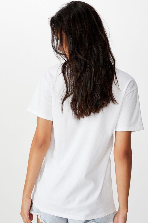 The Kendall Graphic Tee, WHITE/LCN LN NIRVANA ANGEL