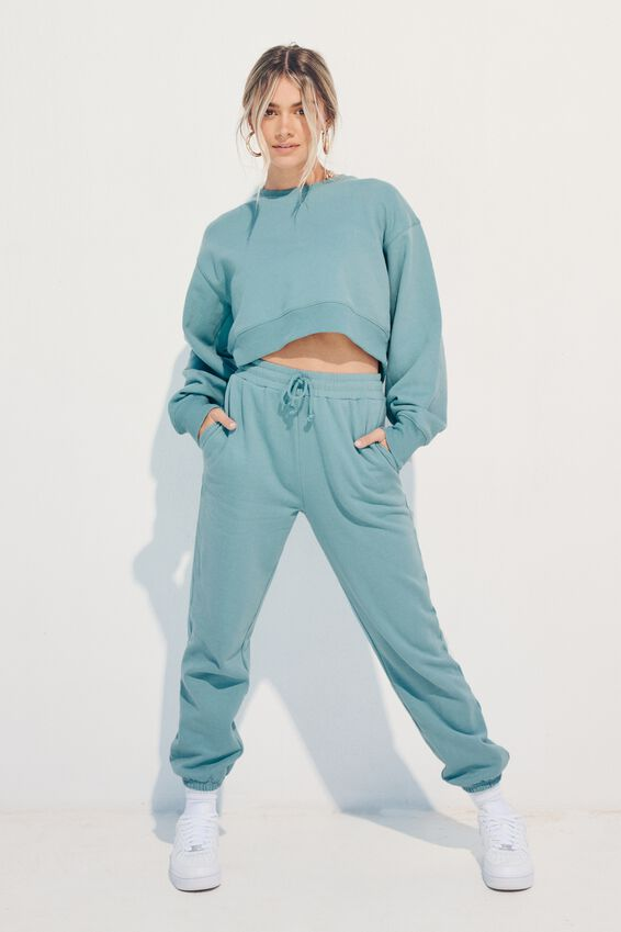 Nia Classic Track Pant, CHALKY TEAL