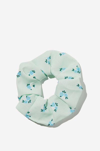 Flynn Floral Scrunchie, CUCUMBER GREEN