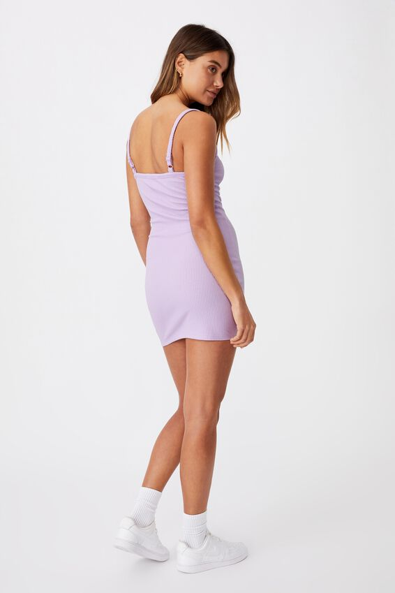 Emery Rib Mini Dress, ORCHID BLOOM