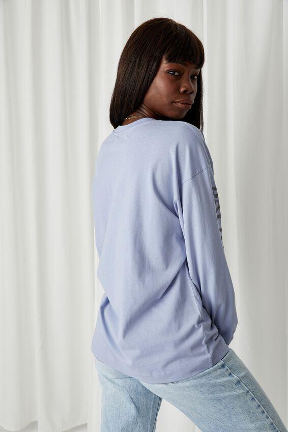 Long Sleeve Oversized T Shirt, BLUE RIDER/FLORIDA MOTO