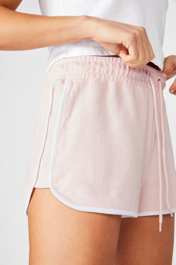 Retro Gym Short, FAIRYTALE PINK