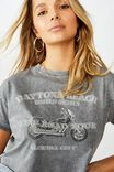 Tamara Graphic Crop Tee, DARK GREY WASH/DAYTONA BEACH