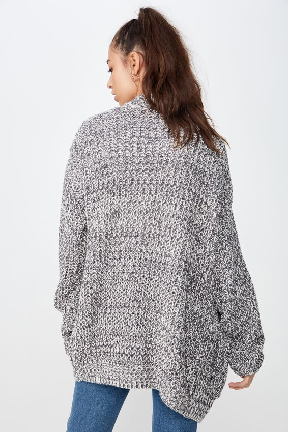 Grace Oversized Cardigan, GRANITE GREY TWIST