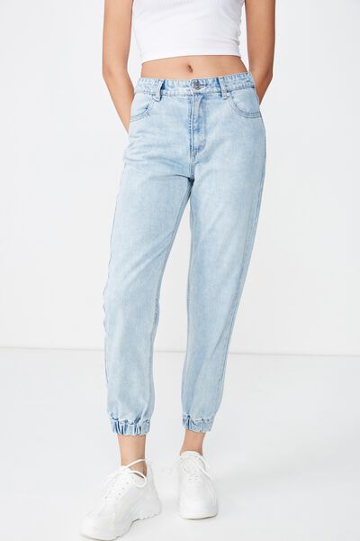 Cuffed Jogger Jean, LIGHT BLUE