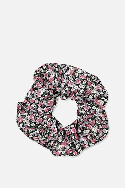 Ditsy Floral Cluster Scrunchie, DITSY CLUSTER BLACK