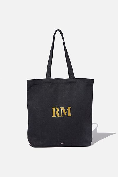 Customised Canvas Tote Bag, WASHED BLACK