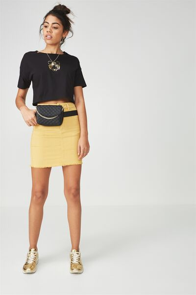 The Charmed Mini Skirt, MARIGOLD