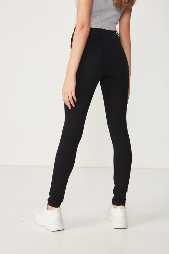 Long Super Skinny Jean, BLACK