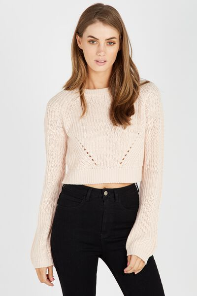 The Harper Knit Top, PALE BLUSH
