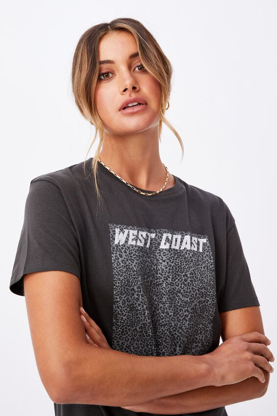 West Coast Longline T shirt, PHANTOM/WEST COAST