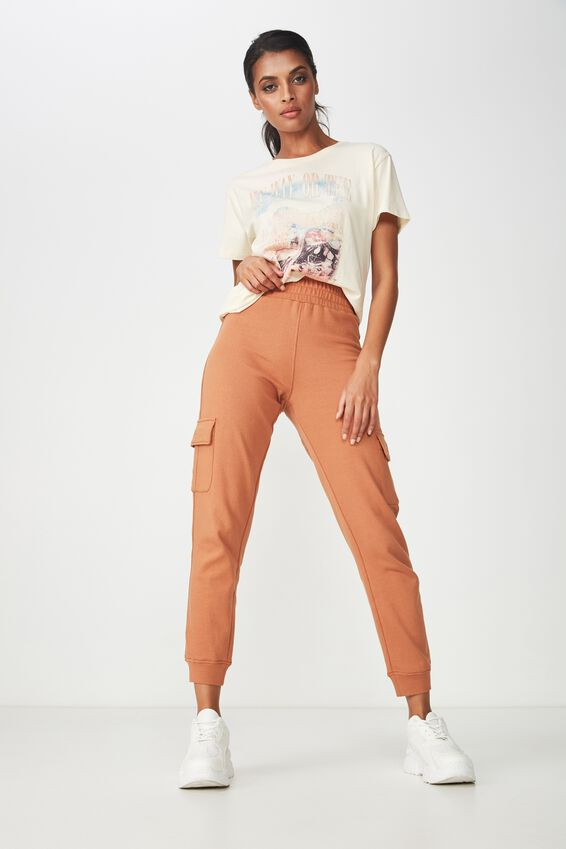 Riley Track Jogger Pant, TOFFEE