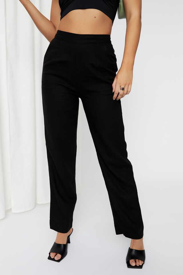 Sadie Pull On Pant, BLACK
