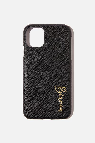 Personalised Phone Covers, 11 BLACK TEXTURE