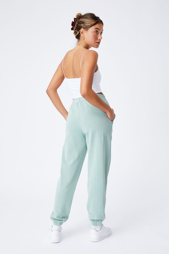 Cassidy High Waist Track Pant, WASHED MATCHA GREEN