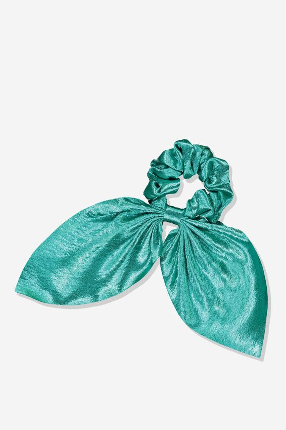 Scarf Scrunchie, SHINY TEAL