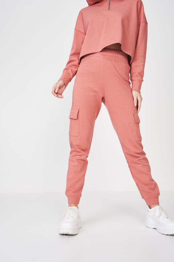 Riley Track Jogger Pant, TERRACOTTA