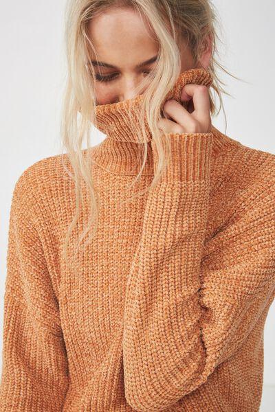 Tully L/S Chunky Knit, GOLD