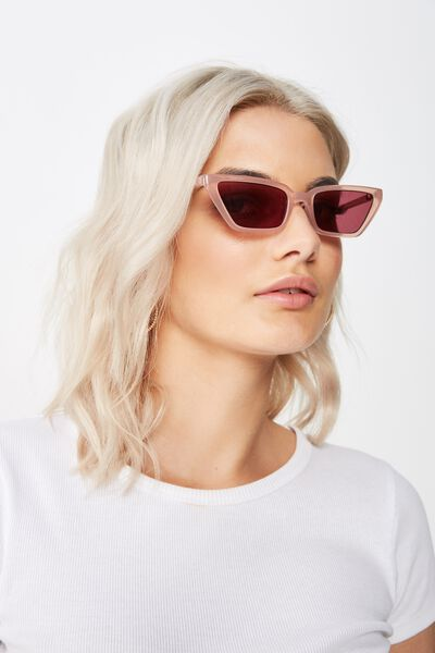 Eva Cat Eye Sunglasses, BLUSH/ROSE