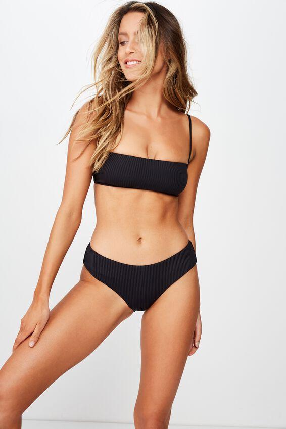 Noosa Seamless Bikini  Bottom, BLACK RIB