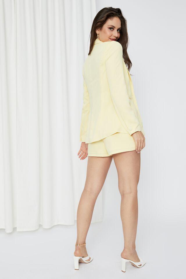 Britney Tailored Blazer, CRISP YELLOW