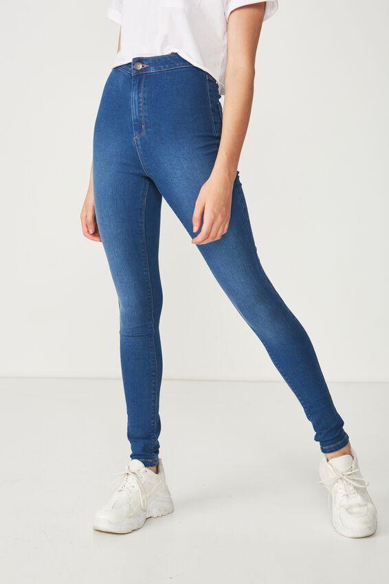 Long Leg Super Skinny Sky High Jean, REBEL BLUE