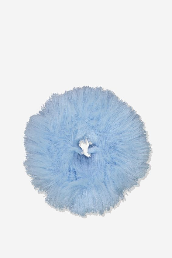 Fluffy Scrunchie, BABY BLUE