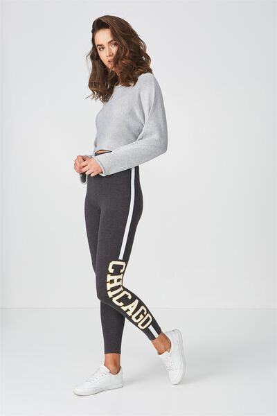 Graphic Legging, CHARCOAL/PRINT