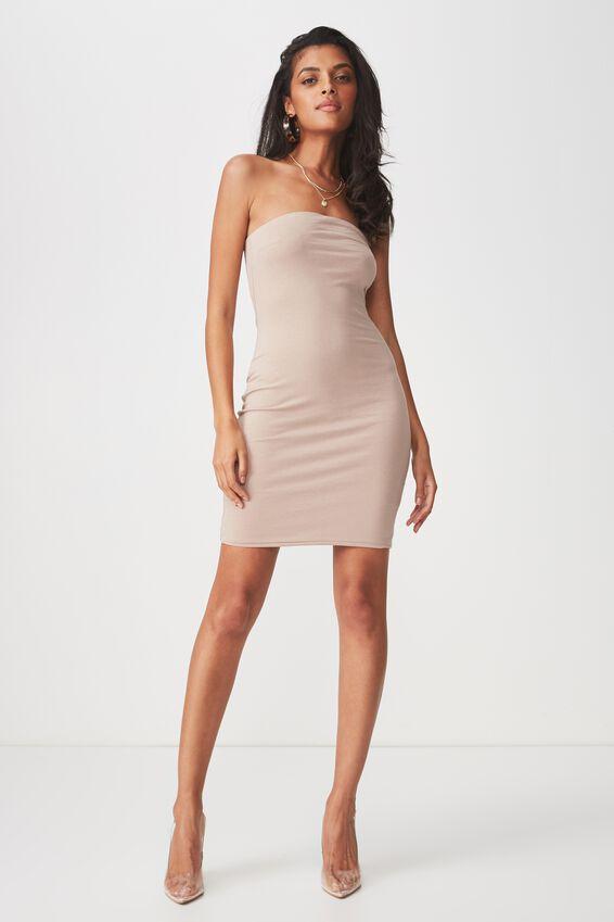 Boobtube Mini Dress, NATURAL