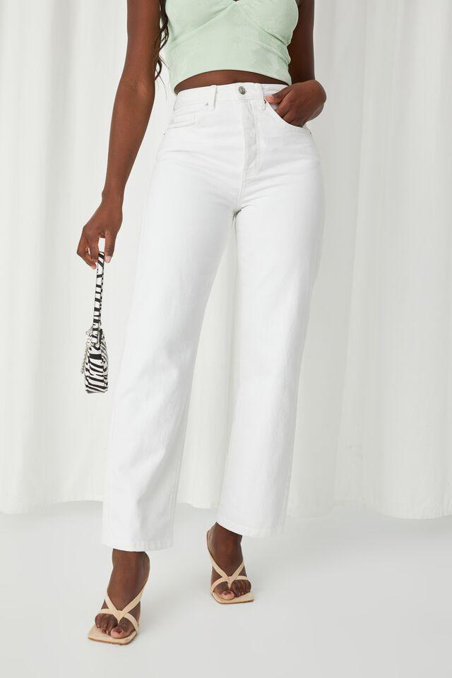 High Rise Straight Jean, CLOUD WHITE