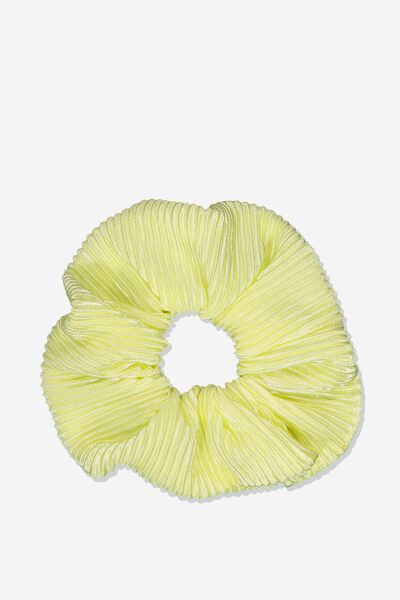 Scrunchie, PLEATED LIMONCELLO