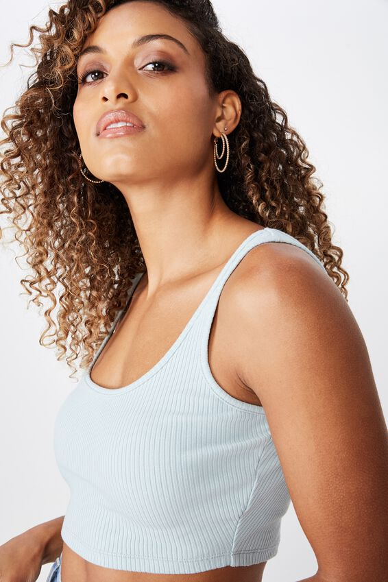 Ari Rib Crop Top, DUCK EGG