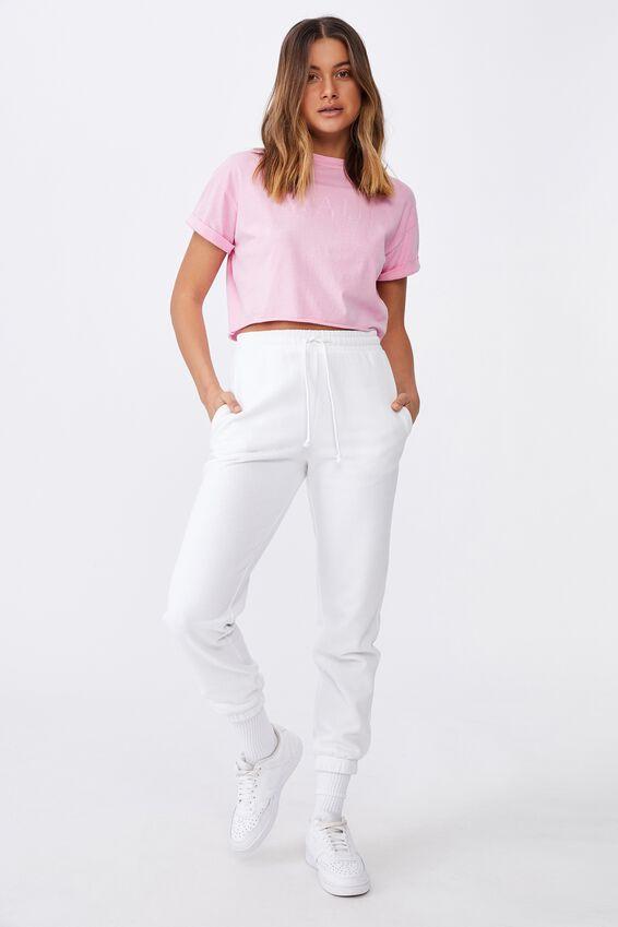 Tamara Printed Crop T Shirt, ACID WASH TAFFY PINK/MAUI HAWAII