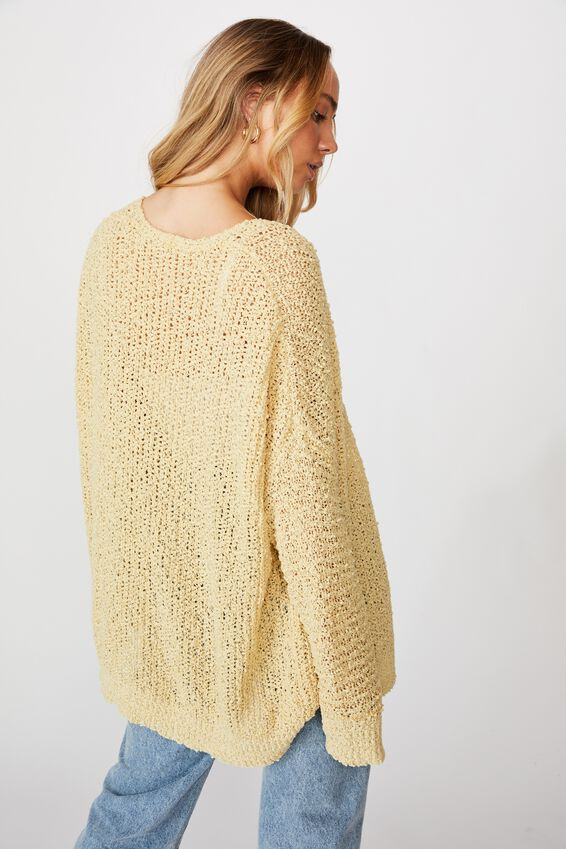 Dayana Cardigan, CROWN YELLOW