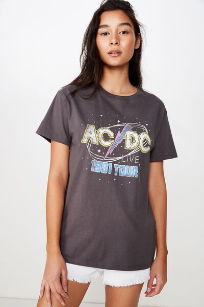 The Kendall Graphic Tee, GRANITE GREY/ACDC LIGHTNING