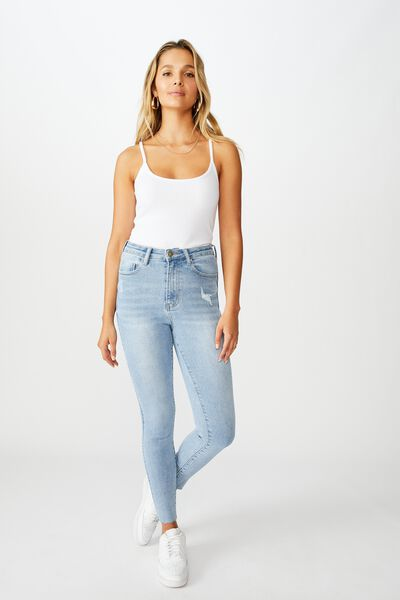 The Skinny Premium High Rise Jean, SUNRISE BLUE