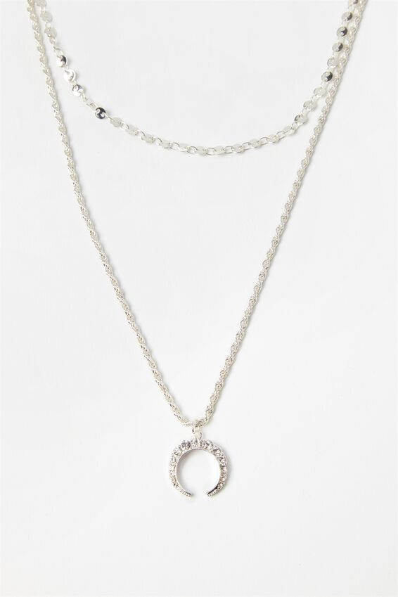 Half Moon Layered Necklace Set by Supre