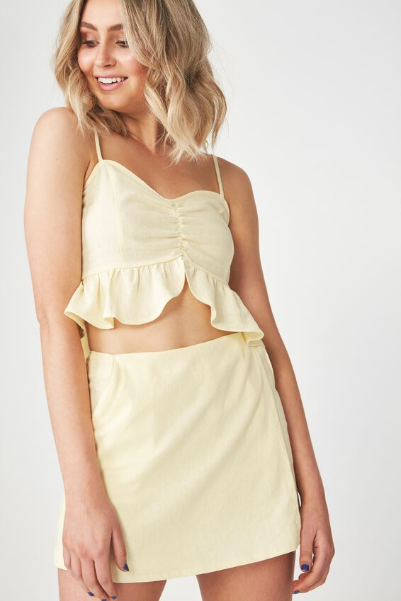 Lana Wrap Skort, LEMON