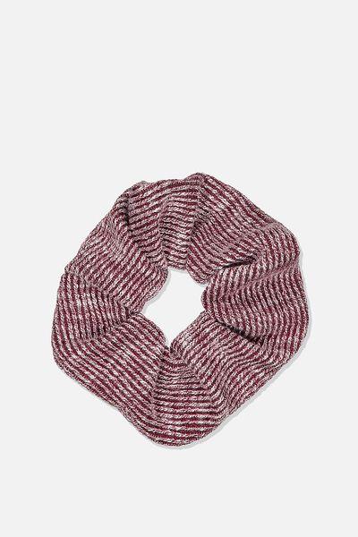 Knit Scrunchie, BURGUNDY