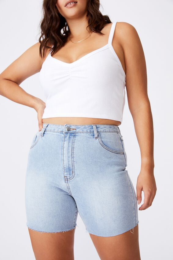 Mariah Highrise Denim Short, SUNDAY BLUE