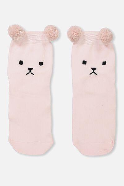 Novelty Animal Face Socks, BEAR