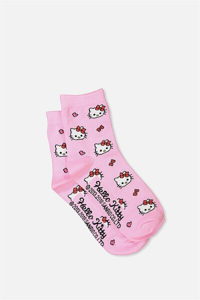 Hello Kitty Ankle Socks, PINK KITTY