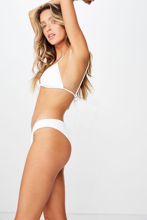 Byron V Front Bikini Bottom, WHITE RIB