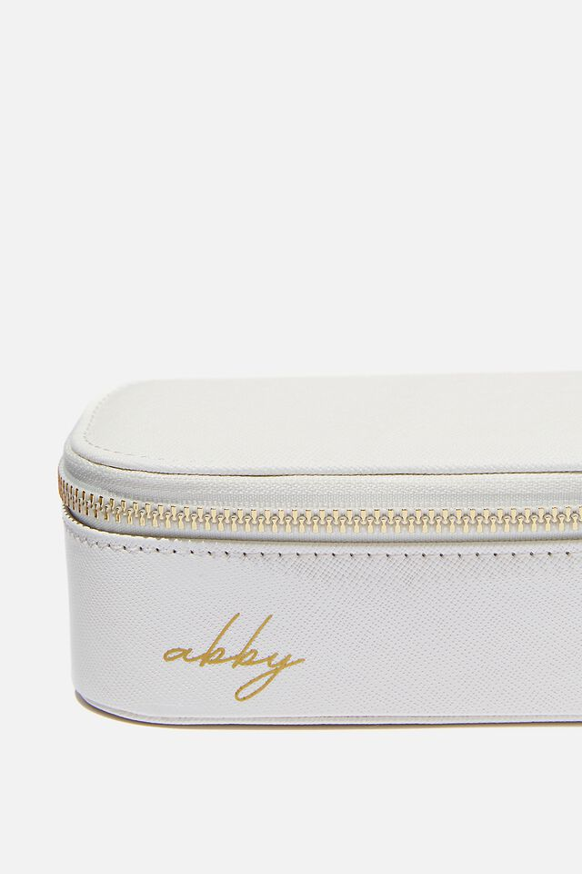 Personalised Jewellery Case, WHITE TEXTURE