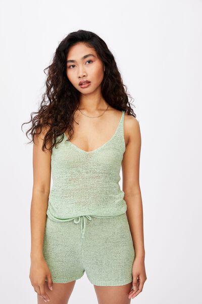 Renetta Knit Cami Co Ord, MINTY GREEN