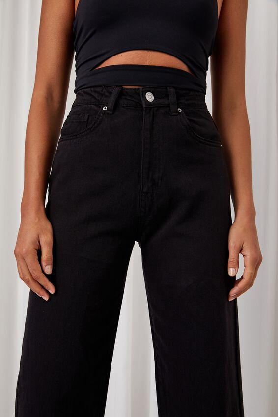 Wide Leg Jean, WASHED BLACK