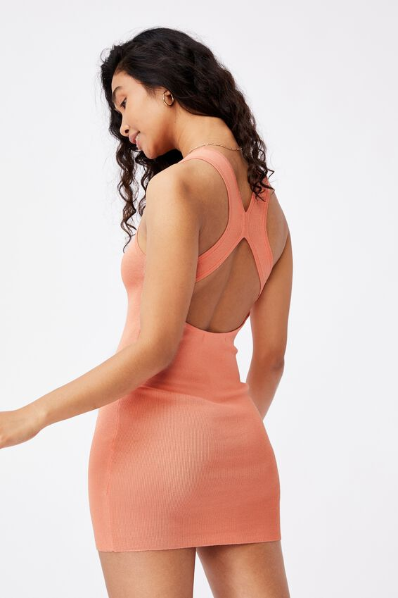 India Cutout Mini Dress, SHELL PINK