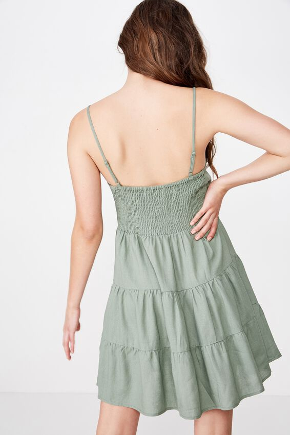 Sunlover Slip Dress, KHAKI