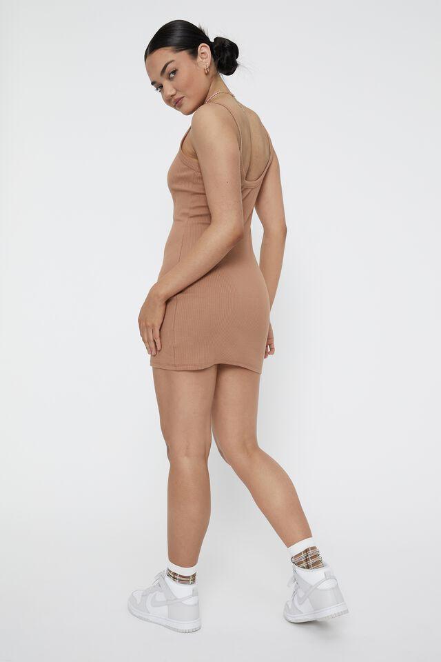 Eloise Scoop Back Cami Dress, CARAMEL