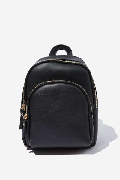 Gwen Mini Backpack, BLACK